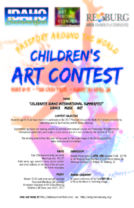 Children's Art Contest flyer.